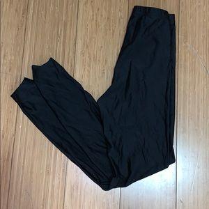 AMERICAN Apparel shiny. Black leggings